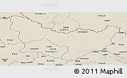 Shaded Relief Panoramic Map of Dungu