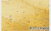 Physical Panoramic Map of Faradje
