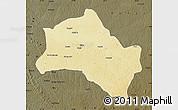 Physical Map of Niangara, darken