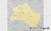 Physical Map of Niangara, desaturated