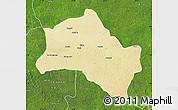 Physical Map of Niangara, satellite outside