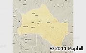 Physical Map of Niangara, semi-desaturated