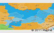 Political Shades Panoramic Map of Haut-Uele