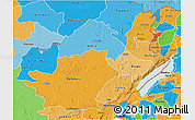 Political Shades 3D Map of Ituri