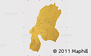 Physical Map of Aru, cropped outside
