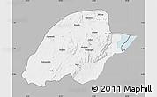 Gray Map of Irumu, single color outside