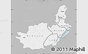 Gray Map of Ituri, single color outside