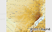 Physical Map of Ituri