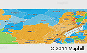 Political Shades Panoramic Map of Ituri