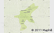 Physical Map of Kisangani, lighten
