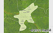 Physical Map of Kisangani, satellite outside