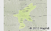 Physical Map of Kisangani, semi-desaturated