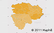 Political Shades Map of Haut-Zaire, cropped outside