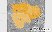 Political Shades Map of Haut-Zaire, desaturated
