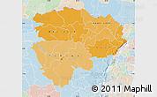 Political Shades Map of Haut-Zaire, lighten