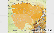Political Shades Map of Haut-Zaire, physical outside