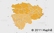 Political Shades Map of Haut-Zaire, single color outside