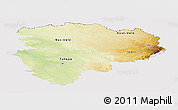 Physical Panoramic Map of Haut-Zaire, cropped outside