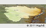 Physical Panoramic Map of Haut-Zaire, darken