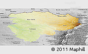 Physical Panoramic Map of Haut-Zaire, desaturated
