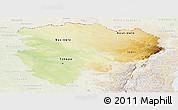 Physical Panoramic Map of Haut-Zaire, lighten