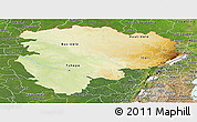 Physical Panoramic Map of Haut-Zaire, satellite outside