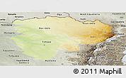 Physical Panoramic Map of Haut-Zaire, semi-desaturated