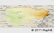 Physical Panoramic Map of Haut-Zaire, shaded relief outside