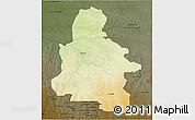 Physical 3D Map of Kasai-Occidental, darken
