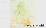Physical 3D Map of Kasai-Occidental, lighten