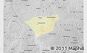 Physical Map of Kananga, desaturated