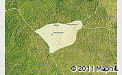 Physical Map of Kananga, satellite outside