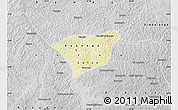 Physical Map of Kananga, desaturated