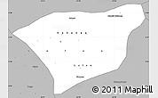 Gray Simple Map of Kananga