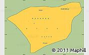 Savanna Style Simple Map of Kananga, cropped outside