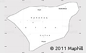 Silver Style Simple Map of Kananga, cropped outside