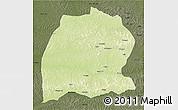 Physical 3D Map of Dekese, darken