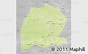 Physical 3D Map of Dekese, desaturated