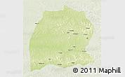 Physical 3D Map of Dekese, lighten