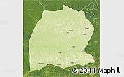 Physical 3D Map of Dekese, satellite outside