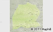 Physical 3D Map of Dekese, semi-desaturated