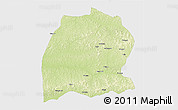 Physical 3D Map of Dekese, single color outside