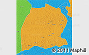 Political 3D Map of Dekese