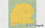 Savanna Style 3D Map of Dekese
