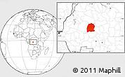 Blank Location Map of Dekese