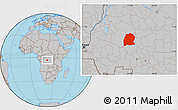 Gray Location Map of Dekese