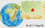 Physical Location Map of Dekese