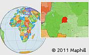 Political Location Map of Dekese