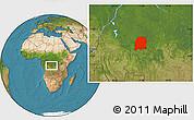 Satellite Location Map of Dekese