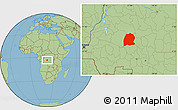 Savanna Style Location Map of Dekese